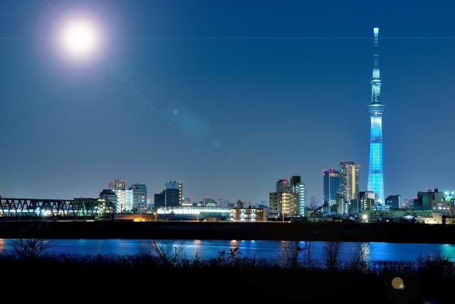 月光とスカイツリーとその周辺の画像。なんだか変化を感じますなあ。よくわからないけど。