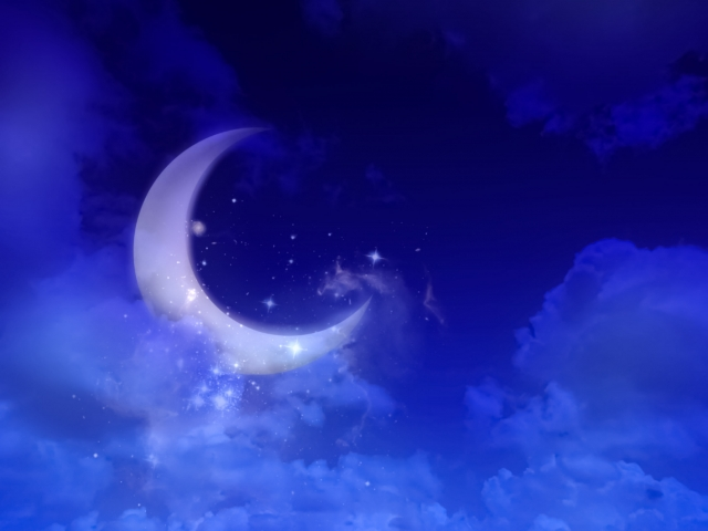 綺麗な夢が見れそうな月夜の画像。眠くなる…。